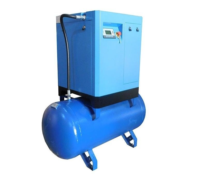 Industrial Screw Air Compressor With Dryer , Rotary Vane Compressor