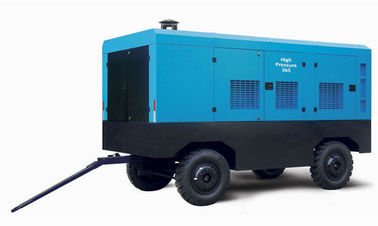 China Direct Driven Diesel Screw Compressor , No Noise Diesel Powered Portable Air Compressor factory