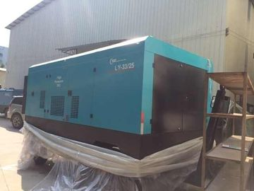 China Industrial Diesel Screw Compressor / Rotorcomp Portable Diesel Air Compressors factory