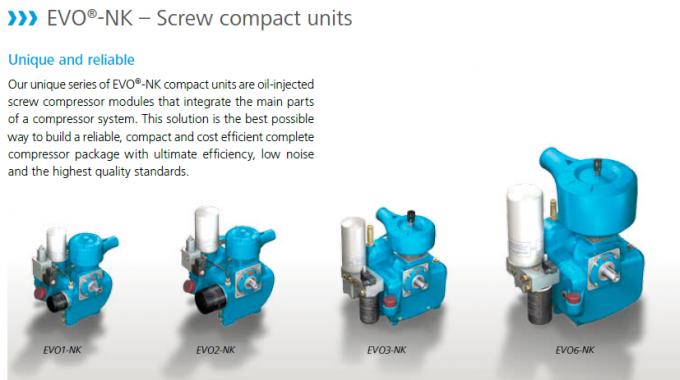 Small Demension Screw Air End / Quiet Air Compressor Air End Low