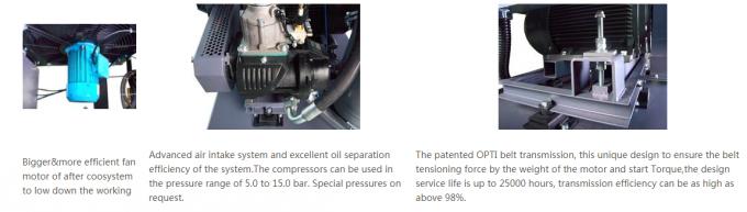 7 5HP screw air compressor original german air end in TUV